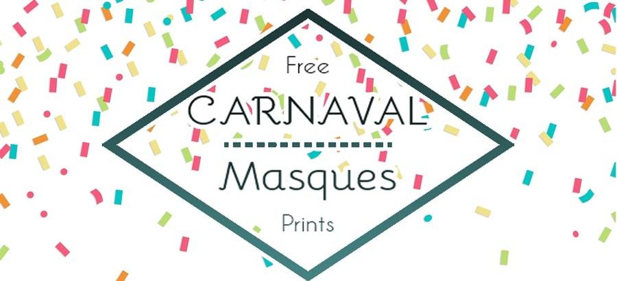 Masques de Carnaval – Free Printable