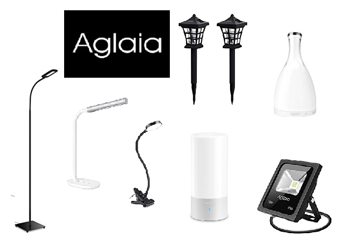Modèles de luminaires proposés par la marque Aglaia