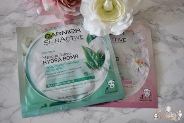 Les masques tissus Hydra Bomb de SkinActive. Merci Garnier pour ces soins