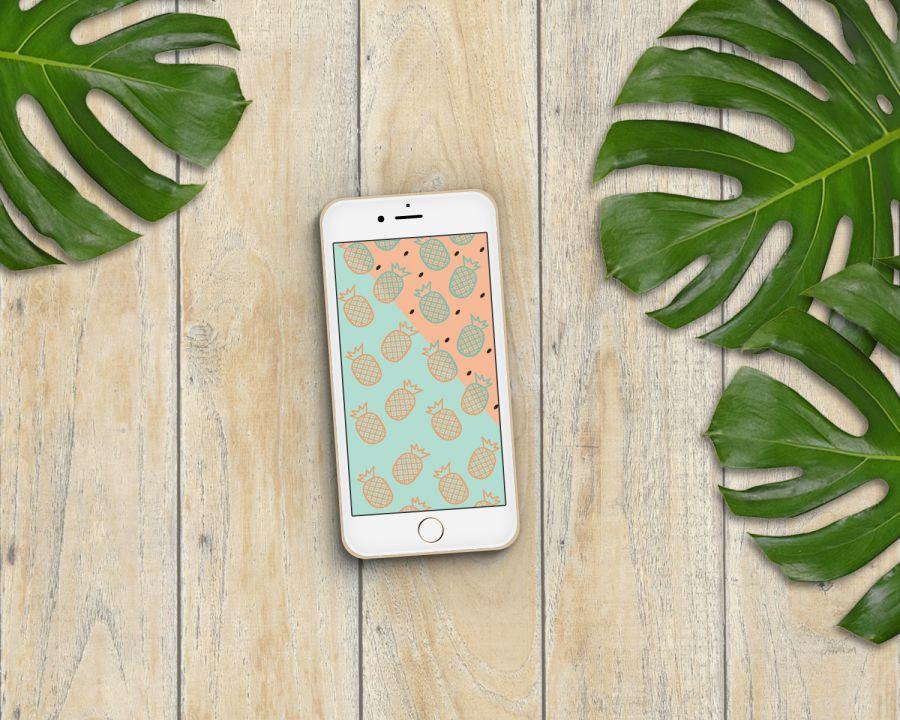 Fond d'écran ananas pour le mois d'août