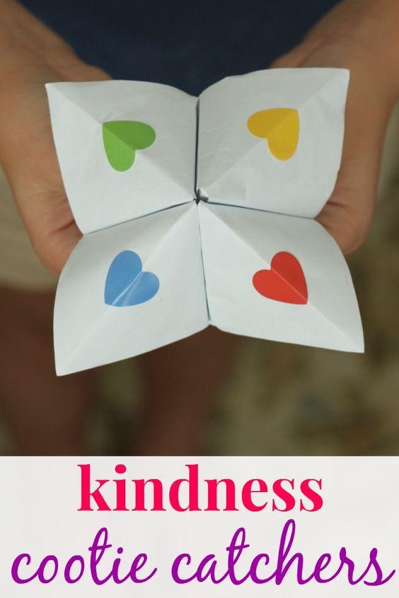 Kindness cootie catchers