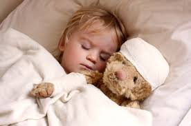 teddy bear with child