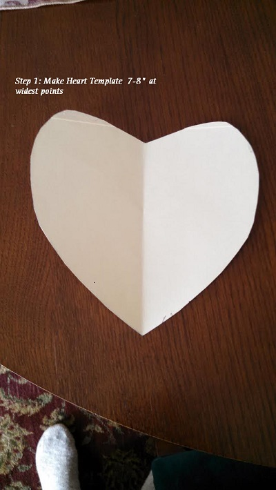 Heart Envelope Step1 with instruction