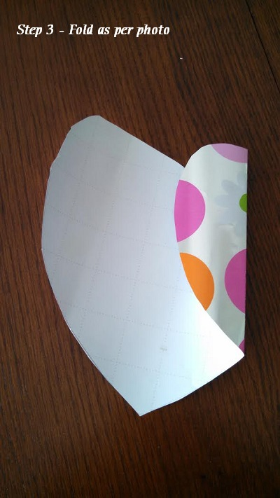 Heart envelope step 3 with instruction