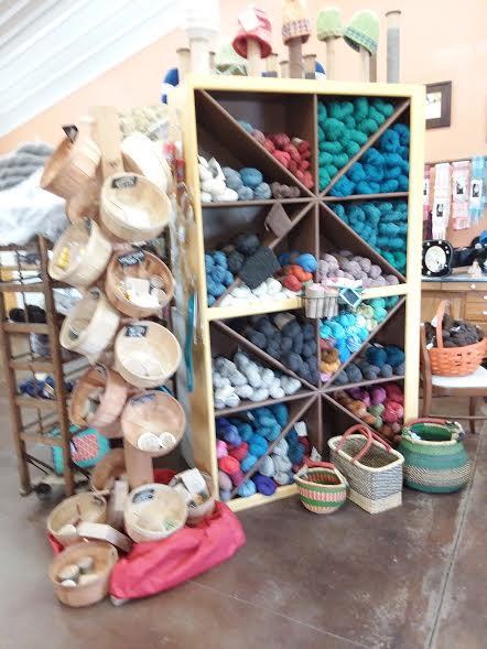 Fiber store yarns