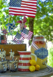 fourth of july lemonade stand