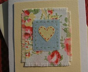 fabric note card