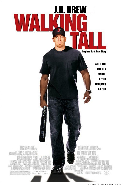 J.D. Drew will be walking even taller after depositing the $28 million the Red Sox still owe him in 2010 and 2011.