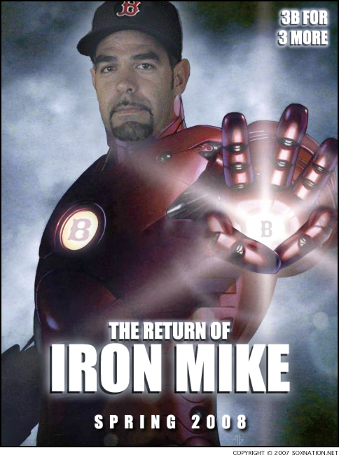 Iron Mike Lowell returns to the Red Sox in 2008