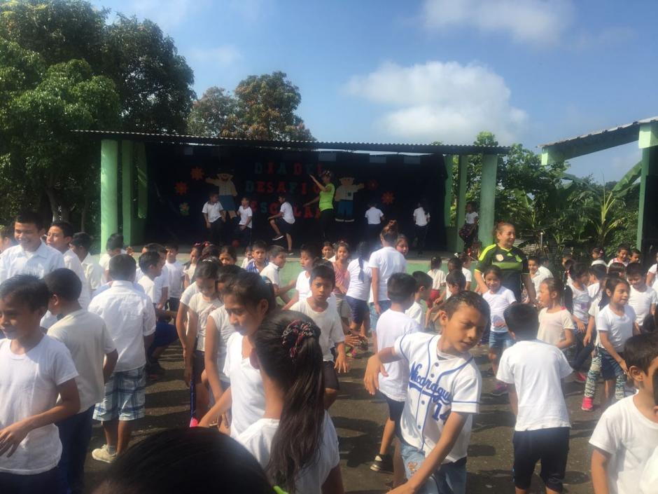 """""""El Desafío"""" fue la última actividad conjunta en la escuela el pasado miércoles. (Foto: Soy502)"""