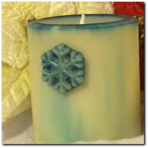 Christmas Soy Wax Pillar Candle