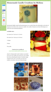 candle business directory listing