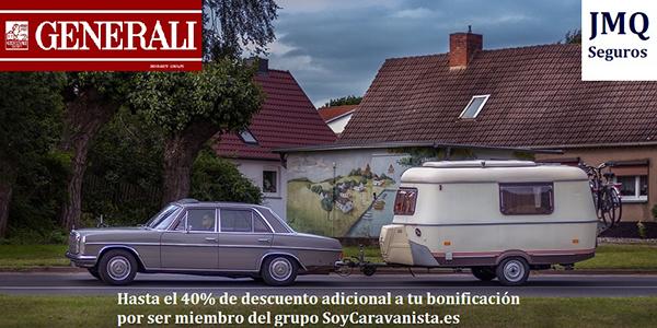 Generali por mediación de JMQ Seguros promociona hasta un 40% de descuento adicional para asegurar tu Caravana