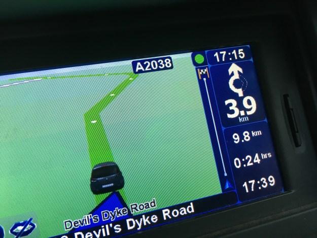 GPS con indicación de 24 minutos para recorrer menos de 10 kilómetros