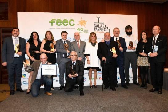 Finalistas de los premios de la Gala de Campings de España 2019