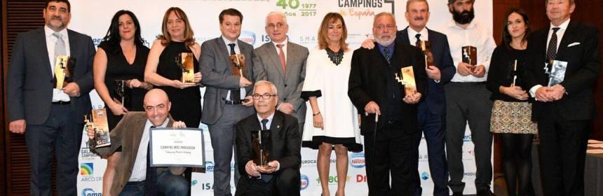 Premiados en la I Gala de Campings de España