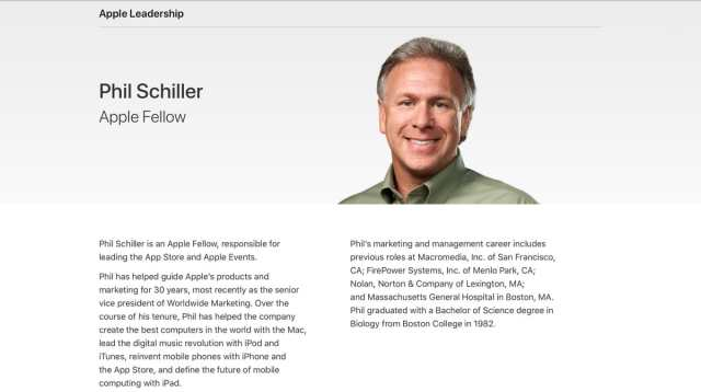 Phil Schiller Cupertino (<stro data-recalc-dims=