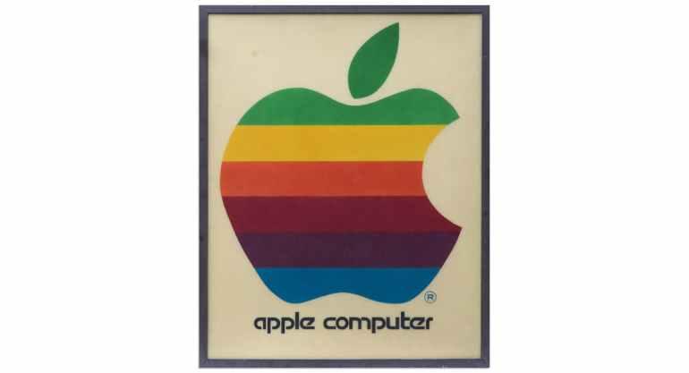 Cartel Apple arco iris
