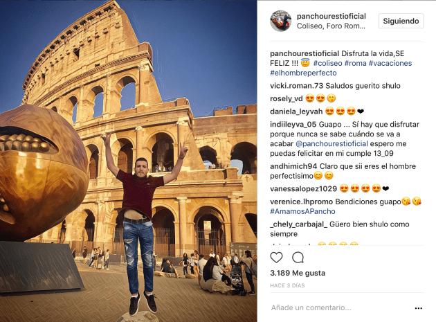 Disfrutó también del Coliseo Romano.
