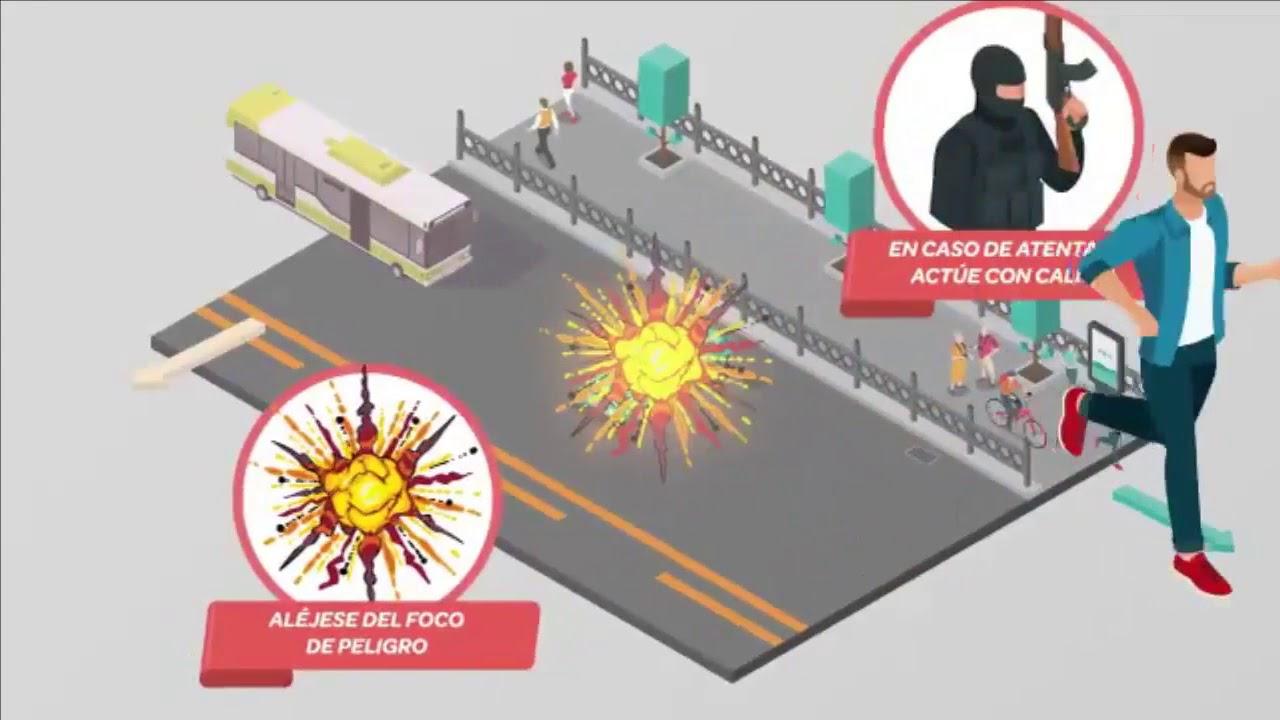 Vídeo con recomendaciones ante atentado terrorista