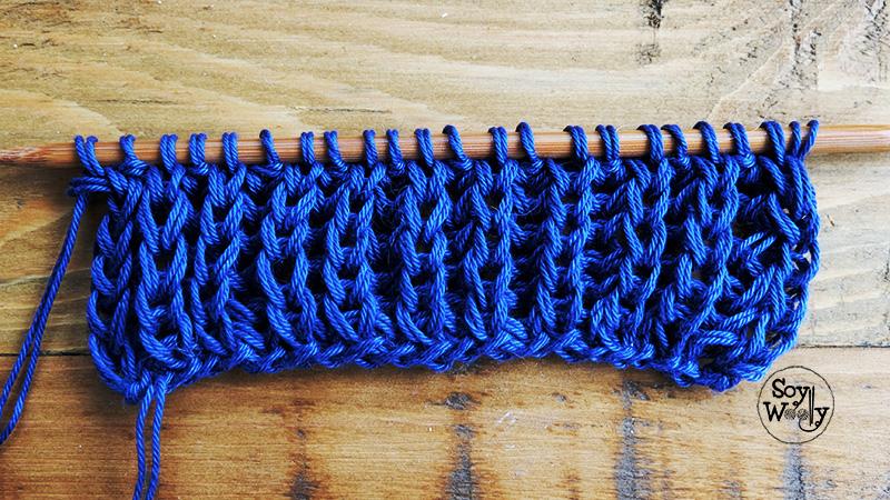 Como hacer el punto ingles original dos agujas tricot-Soy Woolly