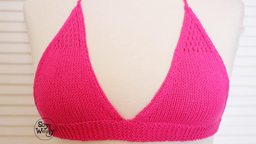 Tejer sujetador sosten bikini dos agujas-Soy Woolly