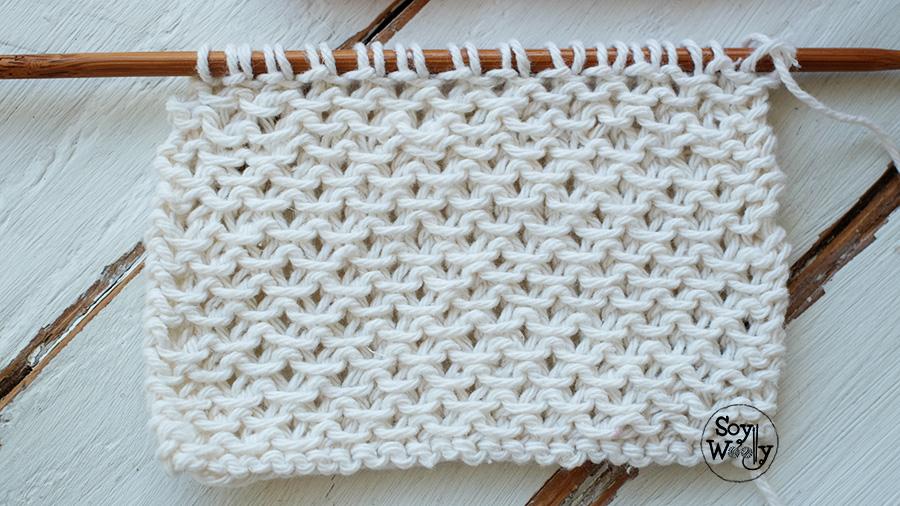 Punto f cil con textura para bufandas y cuellos dos agujas - Puntos faciles para tejer con dos agujas ...