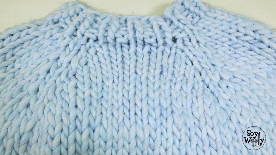 Como hacer aumentos en tejidos con agujas circulares