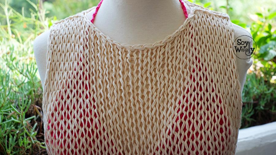 Blusa facil tejida en dos agujas para principiantes