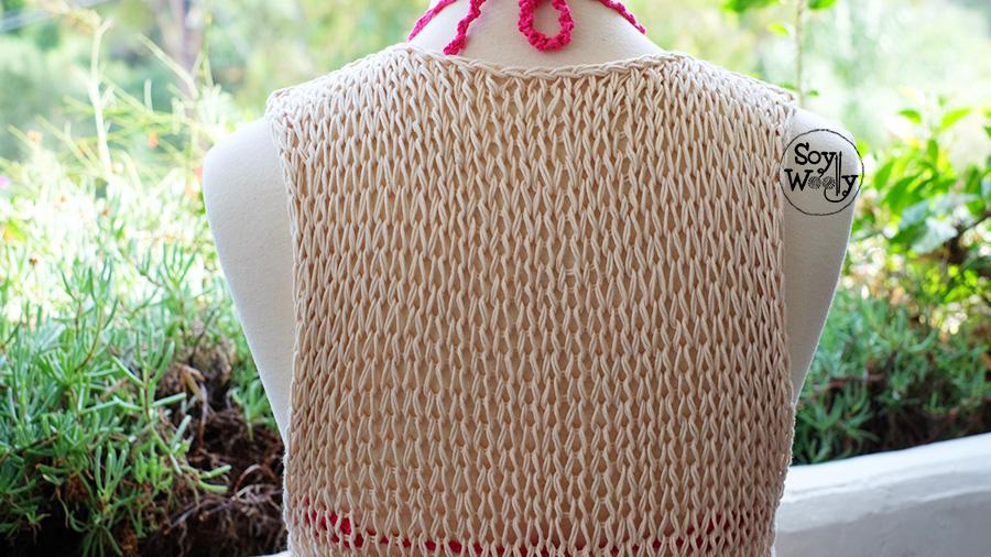 Top tejido en dos agujas para el verano facil y rapido