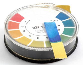 pH-Test mit Kreisskala