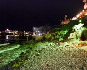 Панорамната алея през нощта