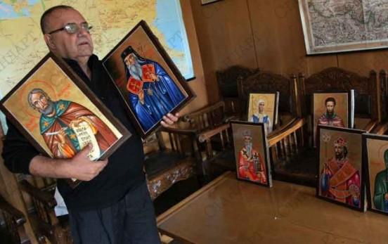 Икони на български светци при мощите на Кръстителя 2