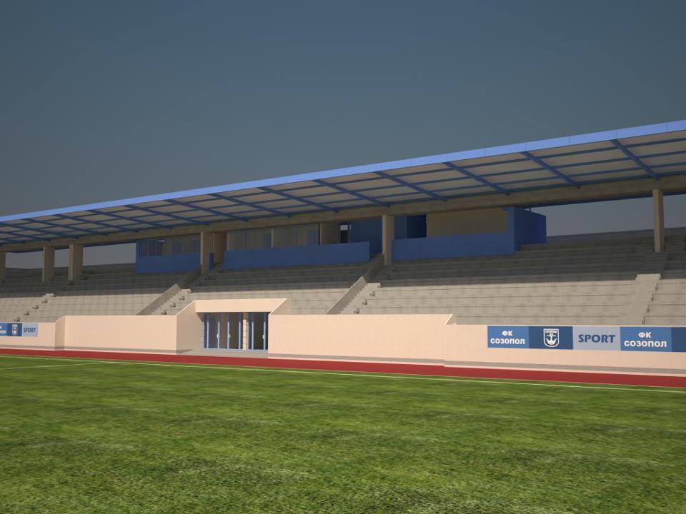 Вижте новия стадион в Созопол