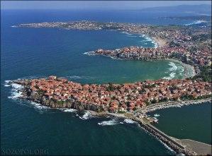 Снимка на Созопол от въздуха