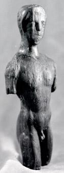 Глинената статуетка на Аполон, открита от подводен екип, ръководен от н.с. Христина Ангелова.