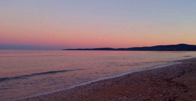 Пурпурен залез край Созопол, местност Аркутино - Дюни