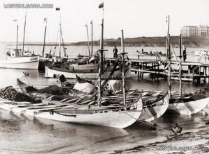 Созопол, пристанището и Рибарското училище - в дъното, след 1927 г. 1