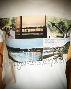 Тениска-колаж на великденският благотворителен базар в Созопол