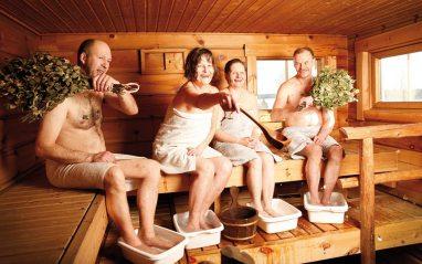Le bonheur est dans le sauna