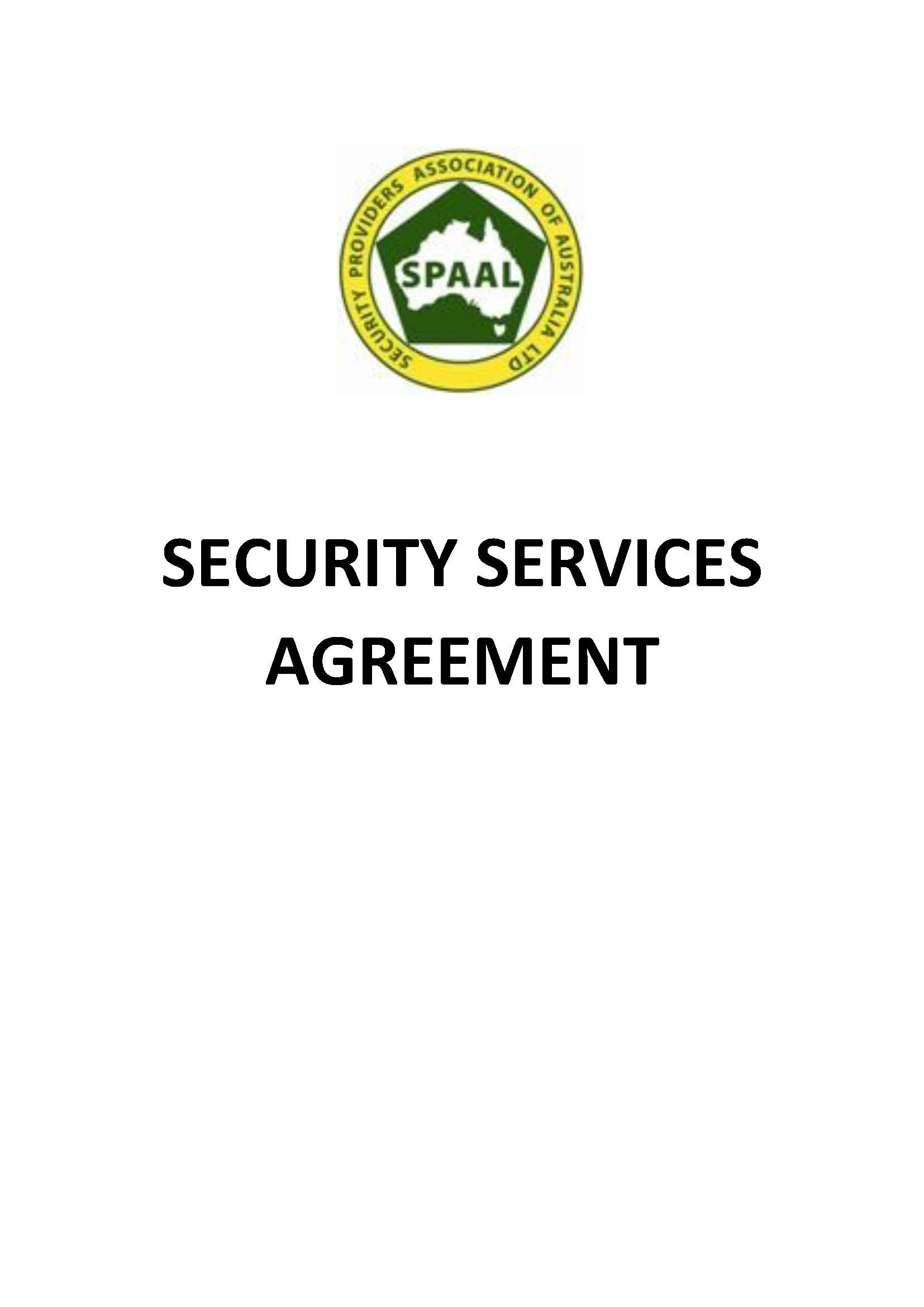 Spaal Security Services Agreement