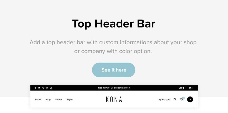 Kona - Modern & Clean eCommerce WordPress Theme - 5
