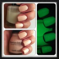 Glow-in-the-dark nails