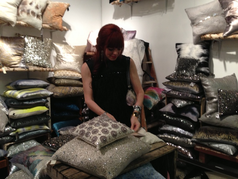 Blinded by the bling - I think Aviva Stanoff is the quintessential linen for glam spa living!