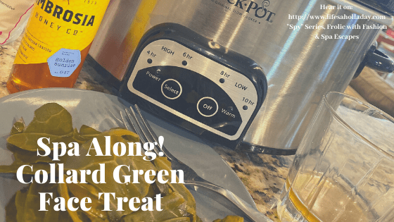 Spa At Home: Collard Green Clean! DIY Facial Treatment Live from our AirBnb!