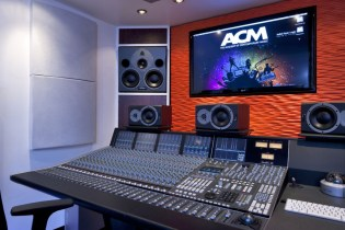 Picture of an acoustic recording studio installation at ACM
