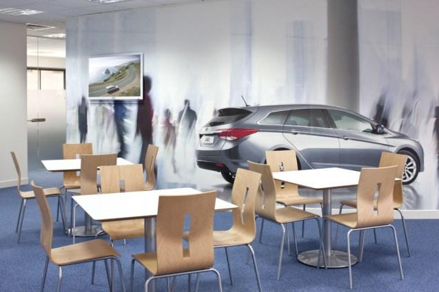 Image of Hyundai Training Centre cafe area