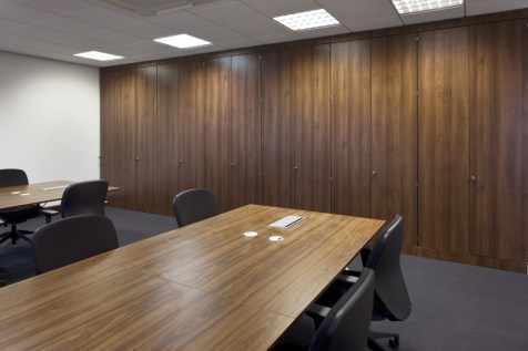 Image of The Order of St Johns Trust conference room meeting table and StorageWall divider