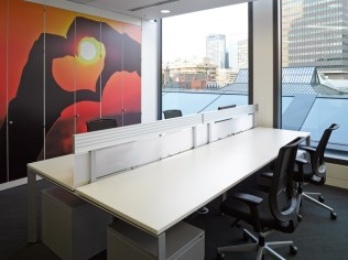 Image of Thomas Cook HQ back-to-back desking