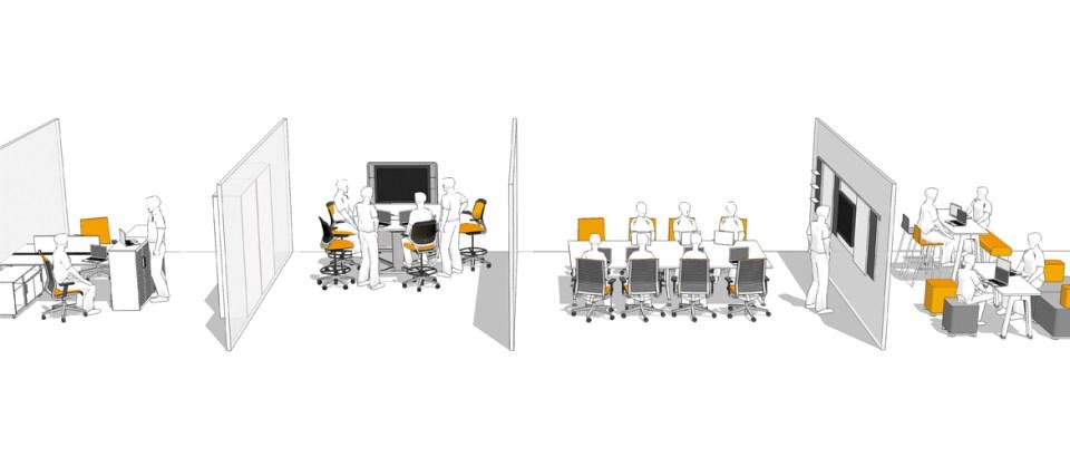 CAD office rendering